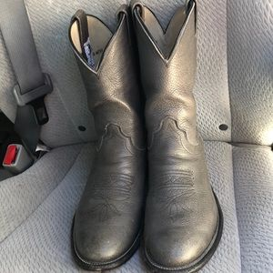 Olathe men's grey boots sz 9.5 great condition
